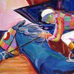 Calvin Lynch <b> The Racer </b> watercolor,  22 x 30