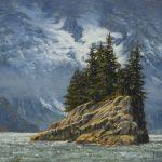 <b>AWARD OF EXCELLENCE</b><br>Robert Newell<br>  <b>Glacier Island<br> </b> Oil on Linen Board,  9 x 12