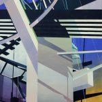 Adalberto Ortiz  <b>Celestial </b> Acrylic on canvas,  42 x 29
