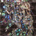 Joseph Ryznar  <b>After Duchamp </b> cd's and cd cases  mounted behnd plexiglass,  30 x 46