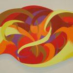 <b>AWARD OF MERIT</b><br>Mark Weleski<br> <b> Playing the Game </b><br> Acrylic on stretched canvas,  34 x 58