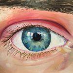 Mari-Pat Beene <b> Staring Contest</b> Oil,  16 x 20
