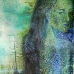 Sarah Hunter <b> Emergence </b> Mixed media on canvas (spray paint and acrylic paint),  36 x 48