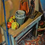 William Pfahl <b> Osage Orange Still Life </b> Oil,  18 x 24