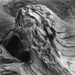 Skip Allen,  Ligonier<br> <b>Driftwood #2</b><br> B/W Photo Rag Silver Gel<br> 20 x 20<br>