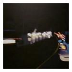 Joseph Ryznar,  Lower Burrell<br> <b>Jersey Barrier</b><br> acrylic 46 x 46