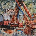 "Larry R. Mallory One Rusty Bucket Watercolor 31"" x 37"""