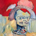 Sheila Cuellar-Shaffer  <b>Points of View </b> Acrylic on canvas,  20 x 16
