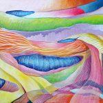 Schildkamp2-<B>Organicities </B> Acrylic on canvas, 18 x 24