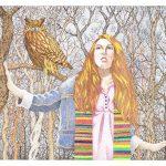Jack Puglisi  <b>The Watcher </b> Pen & Ink (Pointillism), 26 x 34
