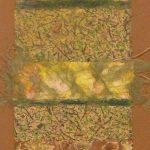 Eileen F. Yeager <b> Spring Awakening </b> Monotype Collage,  32 x 12